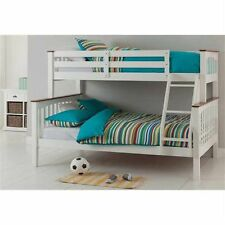 Solid Timber - Double Single Bunk Bed - White