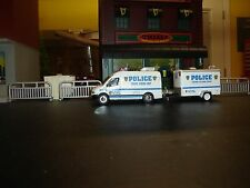 FOR CODE 3 NYPD KITBASH  CRIME SENCE UNIT WITH TRAILER      1/64 SCALE