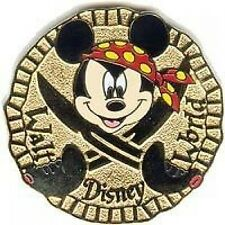 Disney Pin: WDW Cast Lanyard Series 2 - Mickey Pirates Coin Doubloon