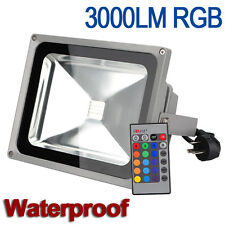 30W RGB LED Reflector Foco IR Proyector Exterior Multicolor Lámpara Impermeable