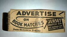 "RARE OLD Vintage ""Advertise on Book Matches"" matchbook.MADE IN USA"