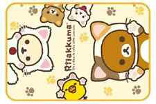 Rilakkuma fluffy Soft Warm  blanket  relax with Cat series  Rare Blanket