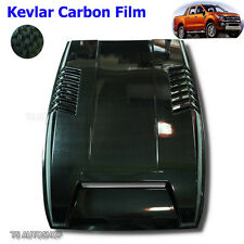 Black Kevlar Hood Scoop Vent Bonnet Cover For Ford Ranger T6 Mk1 XLT 2012-2015