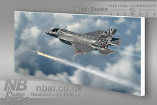 17 Squadron Lockheed/Martin F35-B Lightning II RAF DIGITAL ART on CANVAS
