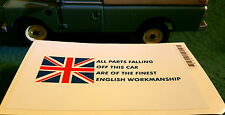 Austin Rover Mini Triumph British Parts Workmanship Comedy Humour Sticker Decal