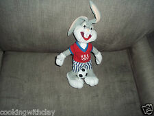 LOONEY TUNES PLUSH DOLL FIGURE SOCCER PLAYING BUGS BUNNY USA EQUITY TOYS 1996