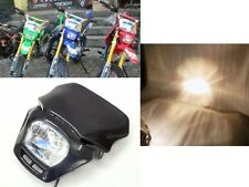 35W Black Off Road Dirt Bike Enduro MX Dual Sport Headlight Suzuki RM RMX RMZ