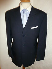 MENS ERMENEGILDO ZEGNA NAVY WOOL AUTUMN FALL SUIT JACKET 38 WAIST 30 LEG 29.5