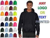 New Personalised Printed Hoodie Sweat, Workwear, Custom Any Text Any Logo