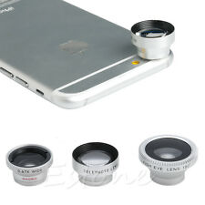 4in1 Fish Eye+Wide Angle+Macro+Telephoto Lens for iPhone 6 6s Plus 5 5S 5C