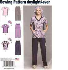 Women Scrubs Top Pants Hat Sewing Pattern 1020 Size 20W-28W New 3 Styles #r