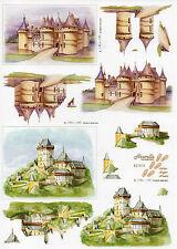 3D Bogen Motivbogen Bastelbogen Schneidebogen A 4 Burg (243)