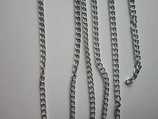 1mAluminium Twisted Cable Chain Curb Silver color jewellery making 4.4x2.8x0.8mm