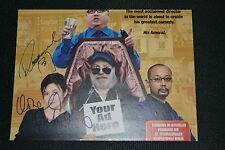 ROSAMUND KWAN (Jackie Chan ) & DONALD SUTHERLAND signed Autogramm In Person A4