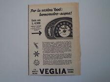 advertising Pubblicità 1959 CRUSCOTTO VEGLIA BORLETTI PER FIAT 600