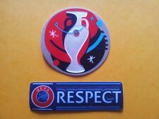 "100 x Pairs 2 x Patch Football Uefa Euro 2016 ""100 x Cup & 100 x Respect"""