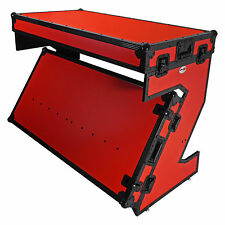 ProX XS-ZTABLERB Portable Z-Style DJ Table Flight Case w/Handles+Wheels