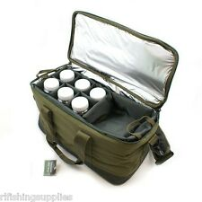Brand New Q-DOS Carp Fishing Insulated Bait Bag Carryall Tackle Bag + Glug Pots