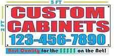 CUSTOM CABINETS w CUSTOM PHONE Banner Sign Larger Best Quality for The $