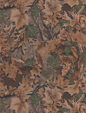 FREE SHIPPING WD4140  ADVANTAGE Camouflage Leaves Forest DOUBLE roll Wallpaper