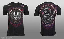 Affliction Men's AC Horsepower Tee Shirt Black Lava Wash 2X-Large