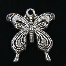 15pcs Tibetan Silver Butterfly Pendants Charms For Jewelry Making
