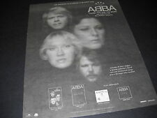 ABBA Life Should Be As Wonderful As An ABBA Song 1995 PROMO DISPLAY AD mint cond