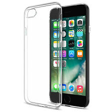 Silicone TPU Clear Case for iPhone 7 Plus Slim Back Cover + 1 Screen Protector