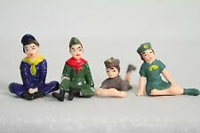 Boy Scout & Girl Scout Set of 4 Vintage Figures (Cool Cake Toppers)