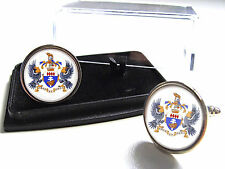 JAMES BOND 007 OHMSS BLOFELD C.O.A. 'SPECTRE' BADGE MENS CUFFLINKS GIFT
