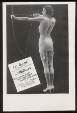 1932 Le Gant lingerie sexy archer woman photo French print ad