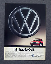G752 - Advertising Pubblicità - 1988 - WOLKSWAGEN GOLF , INIMITABILE