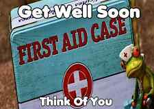 Get Well Soon Frog Thinking Of You Codefd a5 Personalised Greeting cards