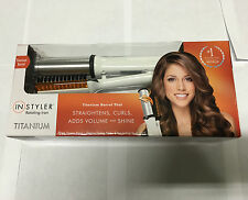 InStyler 32 mm Titanium Rotating Iron Hair Straightener Curler Styler - White