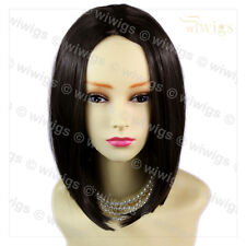 AMAZING Face Frame Soft Medium BoB Dark Brown Ladies Wig skin top Hair WIWIGS UK