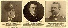 Drei erfolgreiche U-Boot-Kommandanten (Porträtabbildungen) 1918 *  WW1