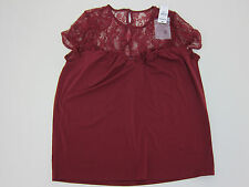 Express Lace Shoulder Blouse - Womens XS - Red - NWT