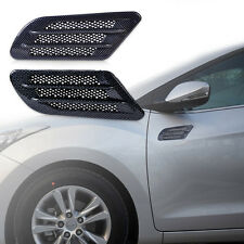 2x Car Side Air Vent Fender Cover Hole Intake Duct Flow Grille Decorate Sticker