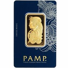 1 Oz Pamp Suisse Gold Bar .9999 Fine