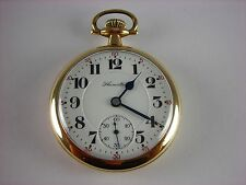Antique Hamilton 996 16s 19 ruby jewels Rail Road pocket watch. Gold filled 1917