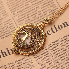 Fashion Antique Gold Chain Tree Of Life Magnifying Glass Locket Pendant Necklace