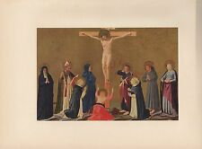 "1953 Vintage ITALIAN ""THE CRUCIFIXION"" FRA ANGELICO COLOR Art Print Lithograph"