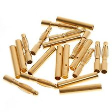 100pairs 2.0mm 2mm Gold Bullet Connector Battery ESC Motor Plug