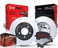 Genuine Bremaxx slotted brake disc rotor & Pads front set for Lancer EVO 6 7 8 9