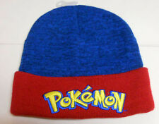 NWOT POKEMON Blue AND Red KNITTED BEANIE HAT sz - One Size