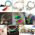 Fashion Women's Fashion Jewelry Charm Hamsa Hand Lucky Evil Eye Beads Bracelet