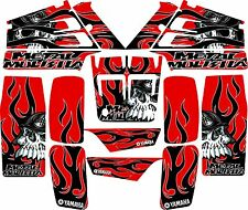 Yamaha banshee full graphics kit Red....3M VINYL