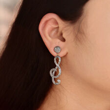 Diamond Pave Antique Finish Dangle Earrings Designer 925 Sterling Silver Jewelry
