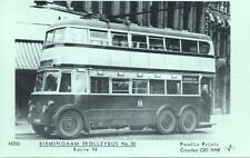 Pamlin Repro photo postcard M203 Birmingham Trolleybus No.50 on route 94