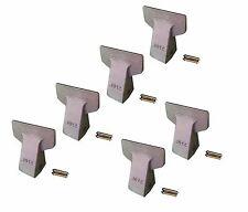 Backhoe/Skid Bucket Teeth w Pins- 23F, 230F, 2300F, 230FG, T23F, 230CF- Set of 6